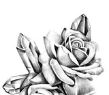 2 x Realistic roses with precious stone  tattoo design high resolution download
