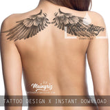 2 x sexy wing tattoo design high resolution download