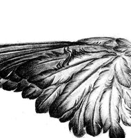 Realistic wing sexy  tattoo design high resolution download