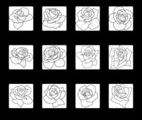 80 Roses and Whip shading 2 Brushset Pack for Procreate application
