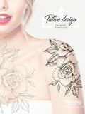oriental roses mandalas sexy girls tattoo ideas for shoulder