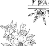 5 x peony linework tattoo design high resolution download