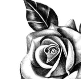Realistic rose with pearls  tattoo design high resolution download