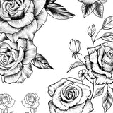 7 sexy roses line work tattoo designs references