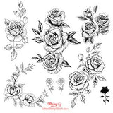 7 sexy roses line work tattoo designs references.