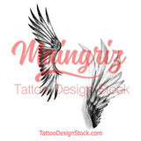 2 x sexy realistic wing  tattoo design high resolution download