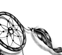 Dreamcatcher realistic tattoo design high resolution download