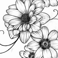 Flowers for arms tattoo design2