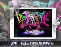 Graffiti Brushset Pack for procreate app ipad by brushestock.com