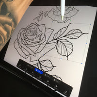 Rose and Whipe Tattoo Set 2 Brushses Pack for Procreate application