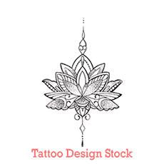 original lotus oriental tattoo design digital download