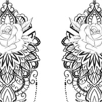 half sleeve mandala Tattoo Design