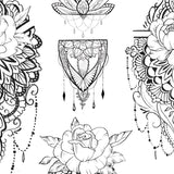 half sleeve Mandala tattoo design digital download