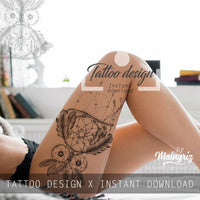 Owl dreamcatcher  tattoo desgin high resolution download