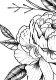 Peony half sleeve linework sexy  tattoo design high resolution download