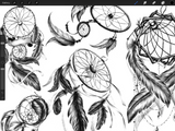 realistic dreamcatchers tattoo stamps and brushes for procreate app Ipad by Brushestock