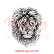 Realistic lion - tattoo design download #10