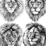 realistic lions for amazing sleeve tattoo by tattoodesignstock.com