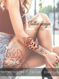 sexy oriental mandalas roses half sleeve sexy girls tattoo ideas