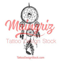 Realistic leg dreamcatcher  tattoo design high resolution download