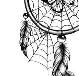 Realistic dreamcatcher with butterfly tattoo design high resolution download