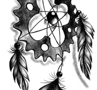 Realistic engineer dreamcatcher  tattoo design high resolution download