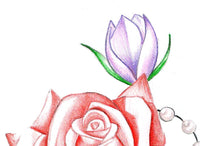 Roses and pearls tattoo design high resolution download