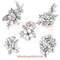 mandala oriental flowers designs for woman tattoo sleeve