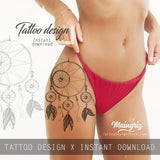 Sexy dreamcatcher  tattoo design high resolution download