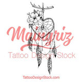 Realistic heart dreamcatcher tattoo design high resolution download