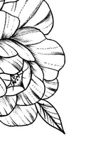 Sexy peony linework half sleeve  - tattoo design download