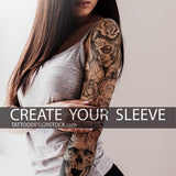 custom chicano sleeve tattoo design in high resolution download
