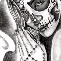santa muerte skull tattoo references in instant download