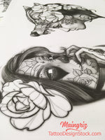 amazing catrina for your custom sleeve tattoo design high resolution download by tattoo artist