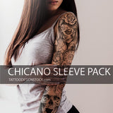 chicano sleeve tattoo design in high resolution download by tattoodesignstock.com