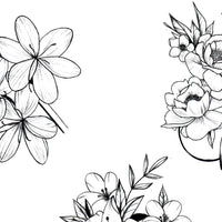 Flowers Mixed Tattoo design