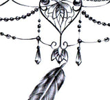 3 feathers with pearl tattoo design high resolution download