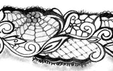 Gun in lace garter - download tattoo design #2
