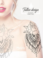 sexy half sleeve mandala tattoo design