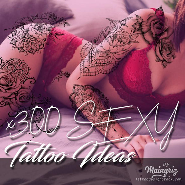 hundreds amazing sexy tattoo designs ideas in INSTANT DOWNLOAD created by tattoodesignstock.com