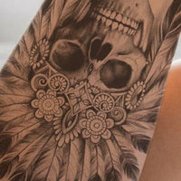 Indian Skull - download tattoo design #1