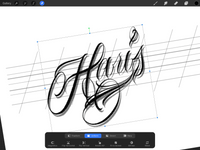 chicano lettering brushset for procreate application