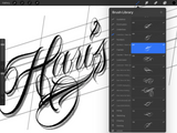 chicano lettering brushset for procreate app