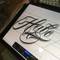 Create unlimited chicano lettering tattoo wtih this pack for procreate application