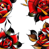 Neo tradional roses tattoo design high resolution download by tattoodesignstock.com