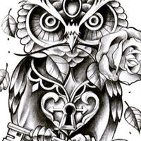 original owl tattoo design digital download by tattoo artist