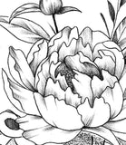 peony mandala half sleeve tattoo design created by tattoo artist