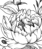 peony oriental sexy half sleeve tattoo design references created by tattoo artist