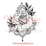 Oriental rose tattoo design references