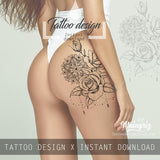 Rose mandala tattoo design high resolution download